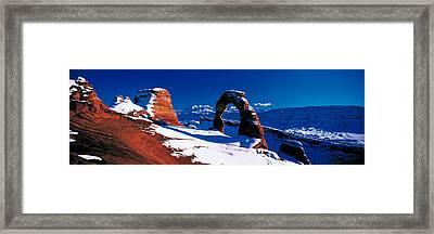 Usa, Utah, Delicate Arch, Winter Framed Print