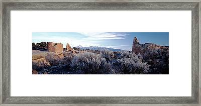 Usa, Utah, Ruins At Hovenweep National Framed Print by Scott T. Smith