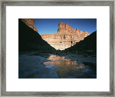 Usa, Utah, View Of Mountain At Glen Framed Print by Scott T. Smith