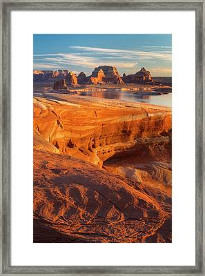 Usa, Utah Weathering Pit Ridge At Lake Framed Print