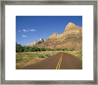 Usa, Utah, Zion National Park � Angelo Framed Print by Tips Images