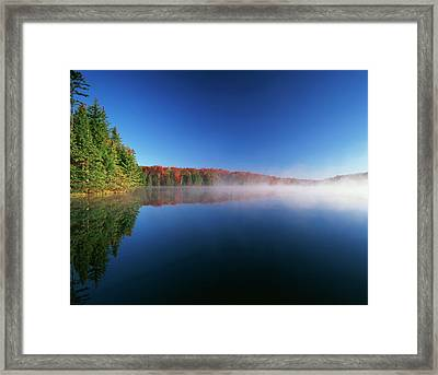 Usa, Vermont, Adams Reservoir, Woodford Framed Print by Adam Jones
