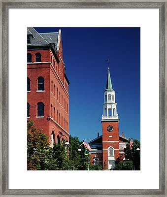 Usa, Vermont, Burlington, Church Street Framed Print by Walter Bibikow