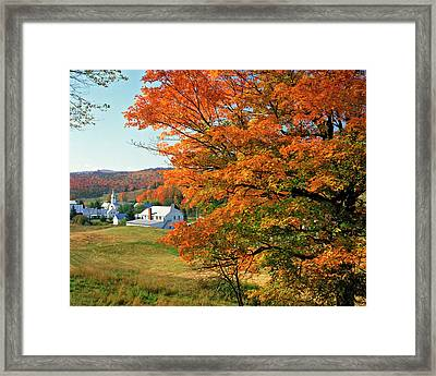 Usa, Vermont, East Corinth Framed Print by Jaynes Gallery