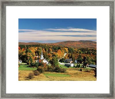 Usa, Vermont, Northeast Kingdom, View Framed Print by Walter Bibikow