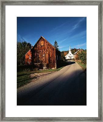 Usa, Vermont, Northeast Kingdom, Waits Framed Print by Walter Bibikow