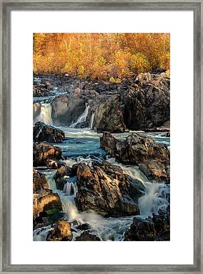 Usa, Virginia, Great Falls Park Framed Print