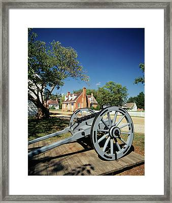 Usa, Virginia, Yorktown, Cannon Framed Print by Walter Bibikow