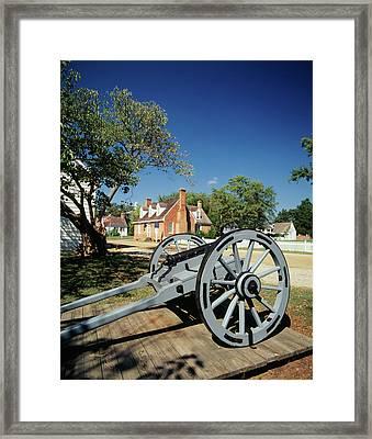 Usa, Virginia, Yorktown, Cannon Framed Print by Walter Bibikow