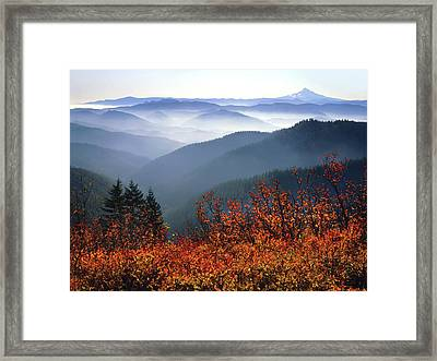 Usa, Washington, Columbia River Gorge Framed Print by Jaynes Gallery