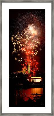 Usa, Washington Dc, Fireworks Framed Print