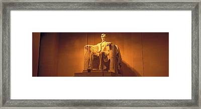 Usa, Washington Dc, Lincoln Memorial Framed Print