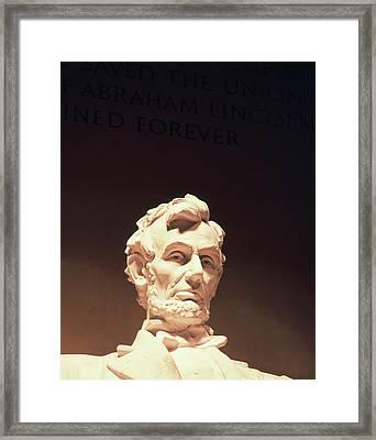 Usa, Washington Dc, Lincoln Memorial Framed Print