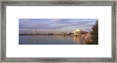 Usa, Washington Dc, Tidal Basin, Spring Framed Print by Panoramic Images