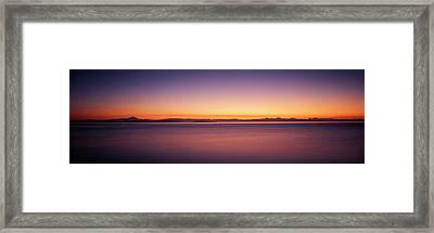 Usa, Washington, Juan De Fuca Strait Framed Print by Walter Bibikow