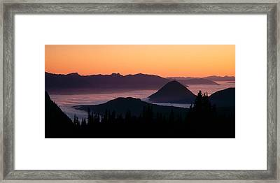 Usa, Washington, Mount Rainier National Framed Print