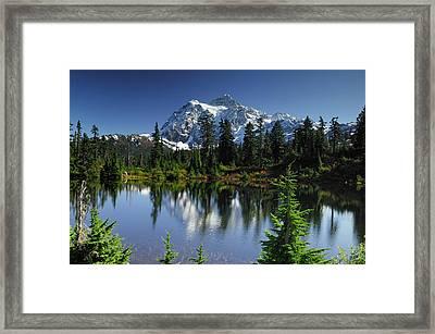Usa, Washington, Mount Shuksan, Mount Framed Print by Gerry Reynolds