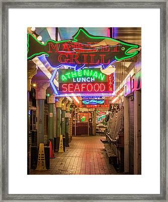 Usa, Washington, Seattle, Pike Place Framed Print by Emily Wilson