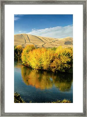 Usa, Washington State, Benton City Framed Print