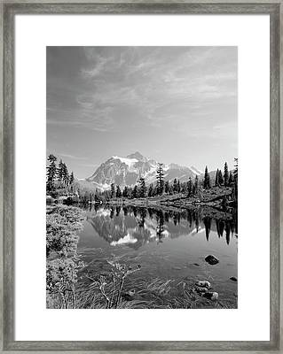 Usa, Washington State, Mount Baker Framed Print