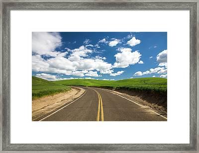 Usa, Washington State, Palouse Country Framed Print