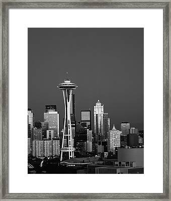 Usa, Washington State, Seattle, Space Framed Print by Adam Jones