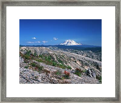 Usa, Washington State, View Of Mt Adams Framed Print by Kent Foster