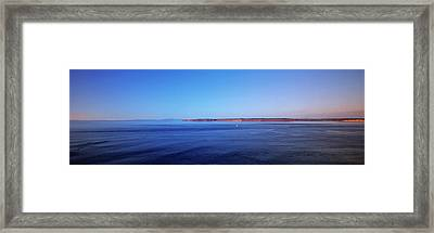 Usa, Washington, The Blue Waters Framed Print by Walter Bibikow