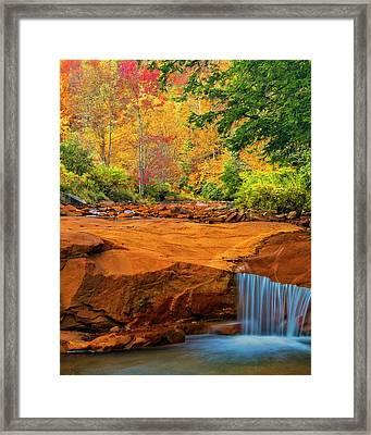 Usa, West Virginia, Douglass Falls Framed Print