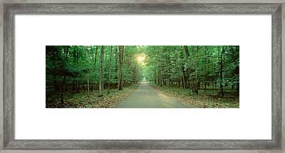 Usa, Wisconsin, Door County, Road Framed Print