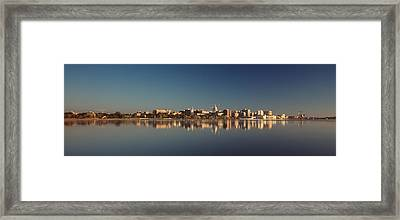Usa, Wisconsin, Madison, Lake Monona Framed Print by Panoramic Images