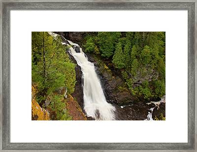 Usa, Wisconsin, Pattison State Park Framed Print