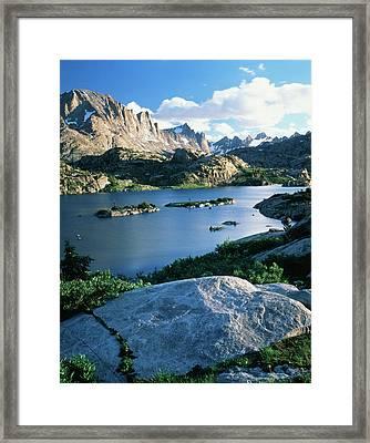 Usa, Wyoming, Bridger Wilderness Framed Print