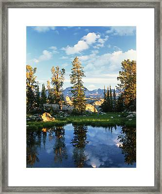Usa, Wyoming, Landscape With Reflection Framed Print by Scott T. Smith