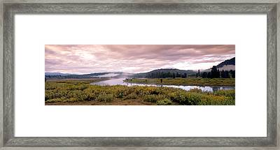 Usa, Wyoming, Yellowstone Park, Snake Framed Print