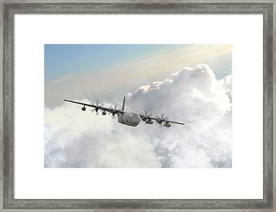 Usaf C130 Framed Print by J Biggadike