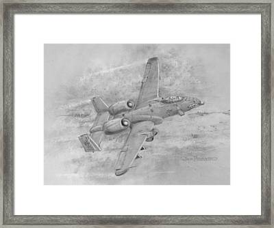 Usaf Fairchild-republic  A-10 Warthog Framed Print