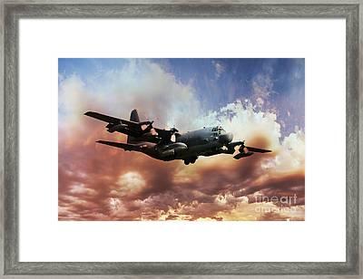 Usaf Hercules Framed Print by J Biggadike