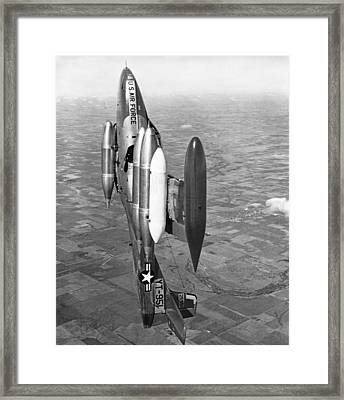 Usaf Jet Going Straight Up Framed Print by Underwood Archives