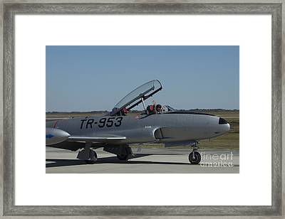 Usaf Lockheed T-33 'tr-953' Taxi Framed Print by D Wallace