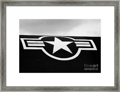 Usaf Star And Bars Insignia On A A12 Blackbird At The Intrepid Sea Air Space Museum  Framed Print by Joe Fox