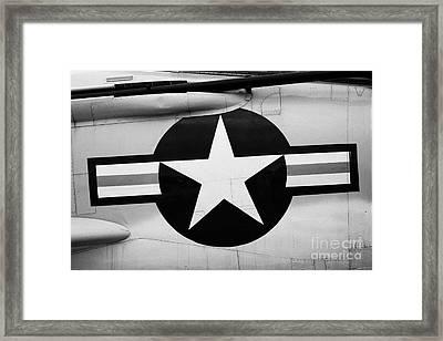 Usaf Star And Bars Insignia On A Mcdonnell F3b F3 Demon  Framed Print by Joe Fox