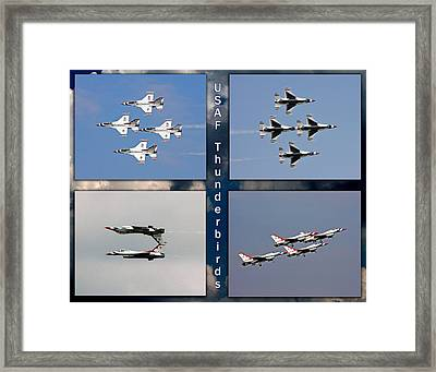 Usaf Thunderbirds Framed Print