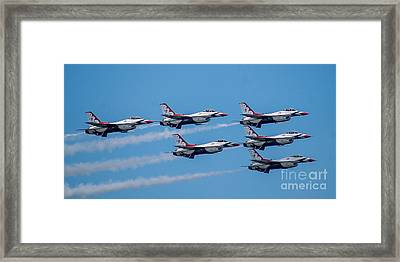 U.s.a.f. Thunderbirds Framed Print