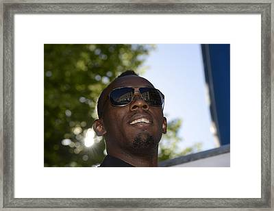 Usain Bolt - The Legend 1 Framed Print