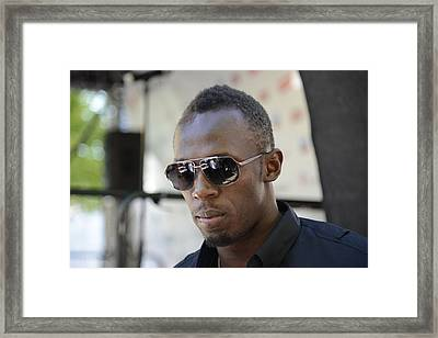 Usain Bolt - The Legend 3 Framed Print