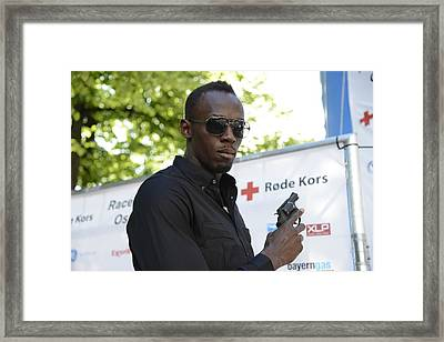 Usain Bolt - The Legend 4 Framed Print