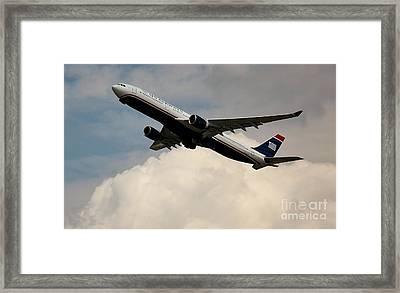 Usair Airbus Framed Print