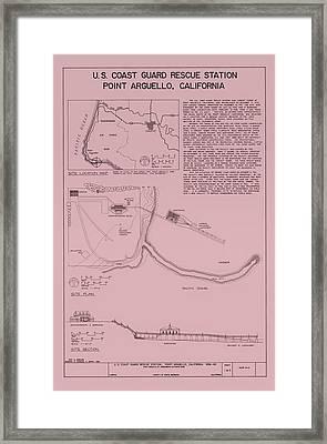 Uscg Rescue Station Plan - Point Arguello California Framed Print