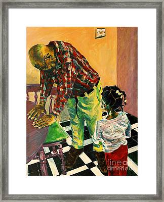 Use 2b So Ez - Help Me Understand - The Long Good-bye Framed Print by Charles M Williams